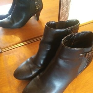 East Fifth black winter boots booties